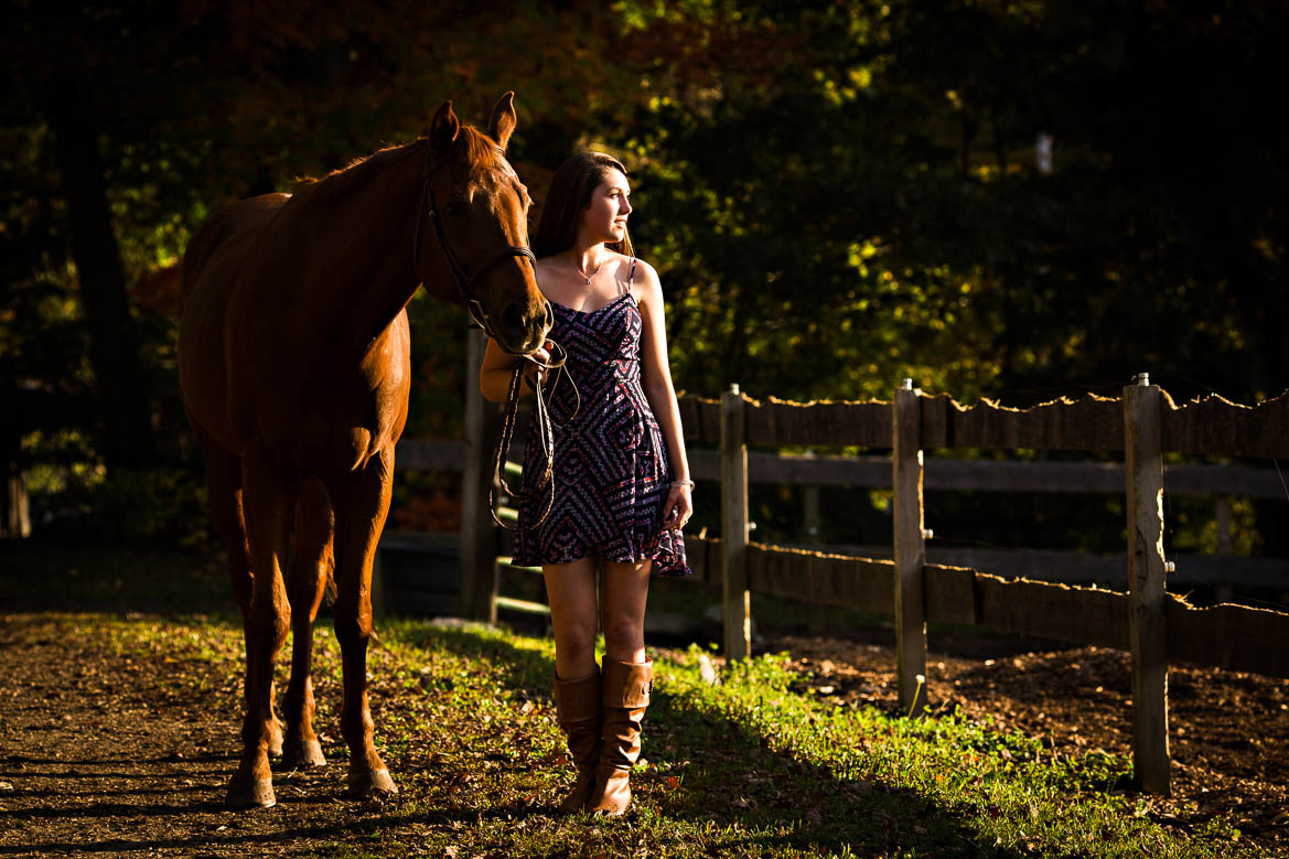 Flying changes stables portrait of girl with her horse
