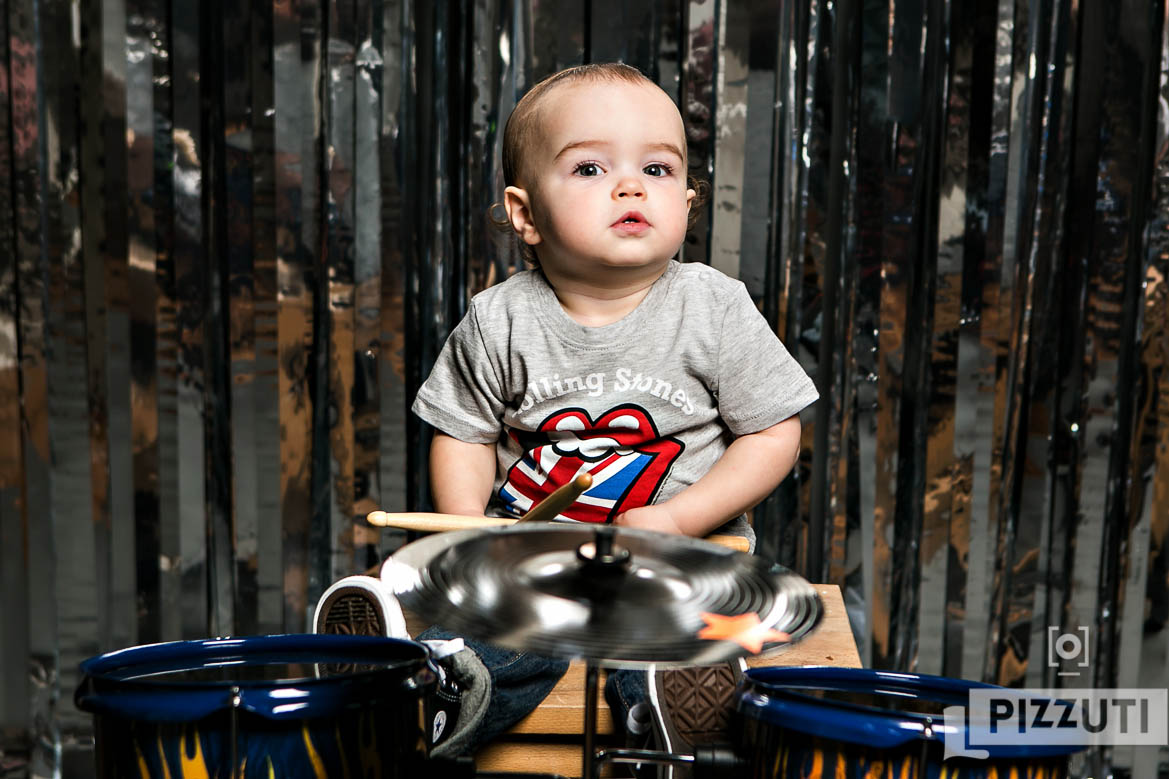 First Birthday Portrait with drums