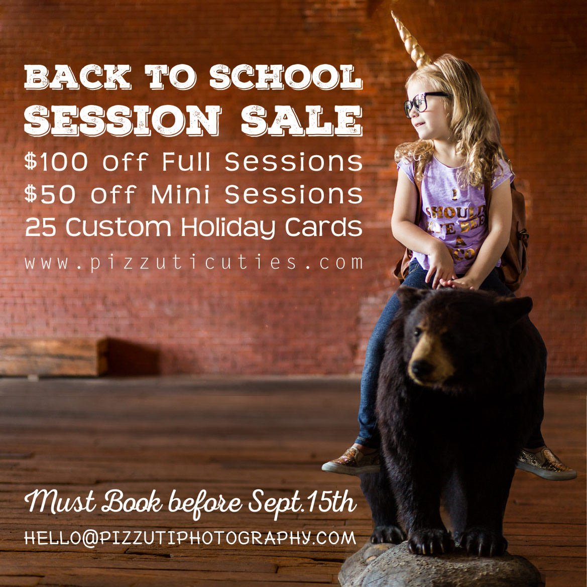 Back to School Session Sale
